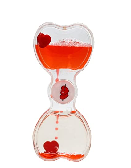 Buy Lilone Valentine Special Floating Heart Droplet Hourglass Gift