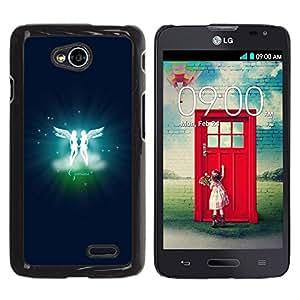 LECELL -- Funda protectora / Cubierta / Piel For LG Optimus L70 / LS620 / D325 / MS323 -- Gemini Twins Zodiac Sign --