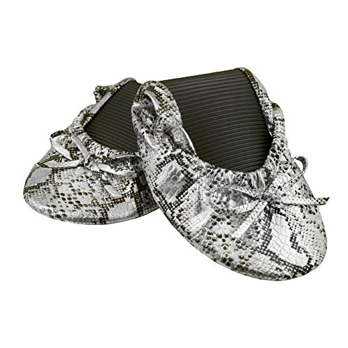 Solemates Purse Pal Foldable Bowed Ballet Flats w/ Expand...