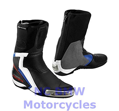 BMW Genuine Motorcycle DoubleR Riding Racing Boots Black / Blue Size 44