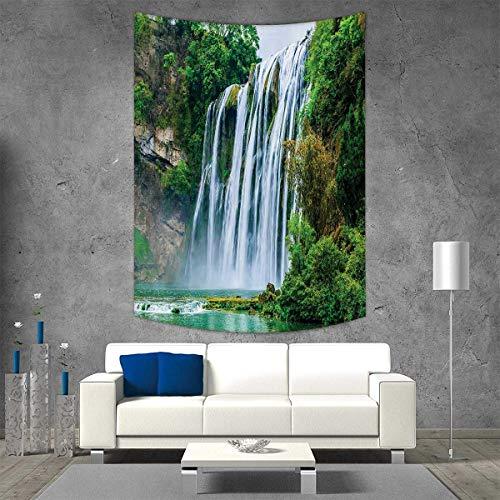 Tapiz para colgar en la pared con diseño de cascada de la marca Smbeefly, impresión 3D, fantástica cascada que flota en el...