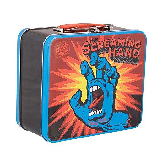 Santa Cruz Skateboards Screaming Hand Metal Lunch Box Storage Container - Blue - 8