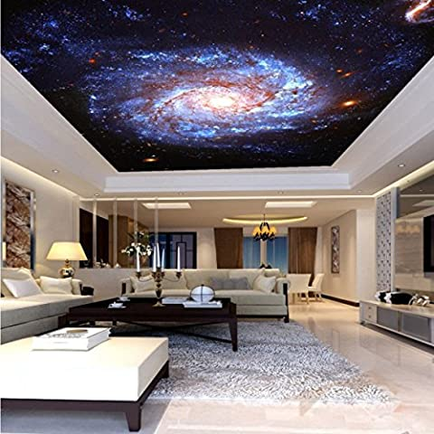 Colomac Wall Mural Galaxy Fantasy Nebula Whirlpool Ceiling Floor Living Room TV Wall 98.4 Inch x 78.7 (Fantasy Mural)