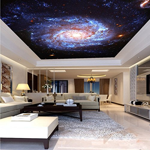 Colomac Wall Mural Galaxy Fantasy Nebula Whirlpool Ceiling Floor Living Room TV Wall 55 Inch x 27.5 Inch from colomac