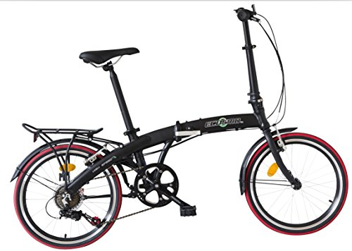 ECOSMO 20' Lightweight Alloy Folding City Bike Bicycle,12kg - 20AF09BL