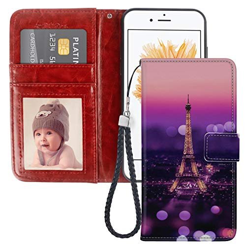 (Paris Night View iPhone 5 5S SE Wallet Phone Case JQLOVE Apple Series PU Leather Flip Magnetic Clasp with Card Slot Stand Holder Wallet Case for iPhone 5 5S SE Paris Night View)