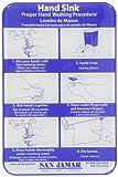 San Jamar HWWLCT Hand Washing Station Smart Chart, 6'' Width x 9'' Height