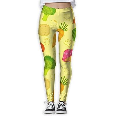 KUKUUU Veggie Vegetables Heat Yoga Pants For Women Football Workout Compression Leggings