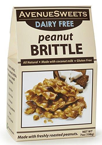 Handmade Dairy Vegan All-Natural Crunchy Brittle 7 oz Box (Peanut, 1 (Crunchy Peanut Brittle)