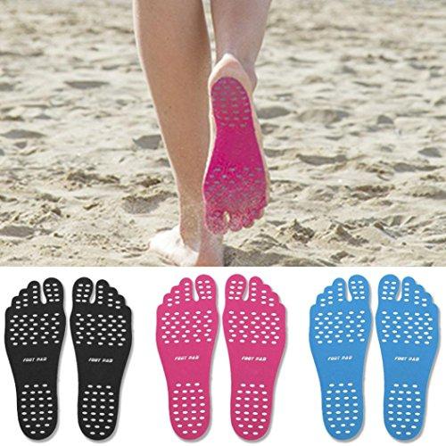 [해외] SOFT ADHESIVE BAREFOOT BEACH INVISIBLE SHOES STICKER, PORTABLE FOOT STICKERS MEN & WOMEN GENERAL, WATERPROOF NON-SLIP,SOLES FLEXIBLE FEET PROTECTION-MOONHOUSE-