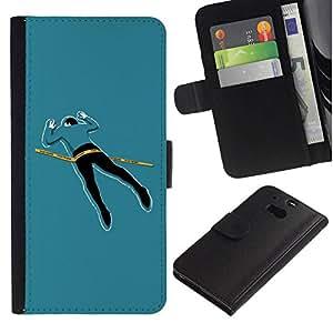 All Phone Most Case / Oferta Especial Cáscara Funda de cuero Monedero Cubierta de proteccion Caso / Wallet Case for HTC One M8 // Funny Crime Scene Body