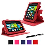 rooCASE Amazon Kindle Fire 7 Case - (2013 Previous Generation) Dual View Multi Angle Tablet 7-Inch 7