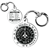 APR E6B FLIGHT COMPUTER KEYCHAIN (航法計算盤 フライト コンピューター キーホルダー キーチェーン)