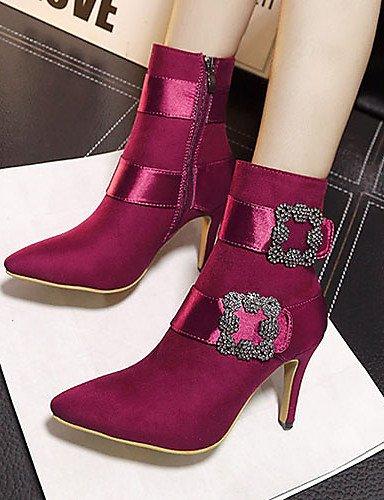 Gray Uk4 Botas Tacones Cn36 Eu39 Puntiagudos De Burgundy Vellón Bermellón Zapatos Stiletto Cn39 Negro Mujer Xzz Tacón Eu36 us8 Vestido Gris Uk6 us6 xqOgFw1