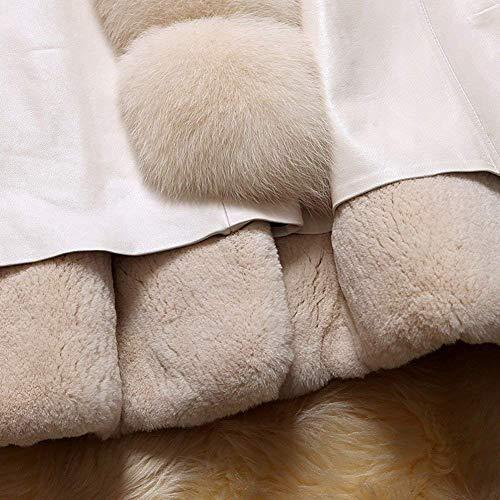 Fit Tasche Lunga Coat Di Sintetica Confortevole Giacca Collo Monocromo Bianca Giubotto Laterali Similpelle Invernali Pelle In Abbigliamento Slim Pelliccia Donna Manica Calda ngzxHRg