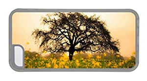 Hipster Cheap price iPhone 5C cover spring flowers tree TPU Transparent for Apple iPhone 5C