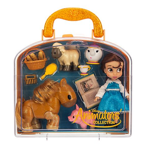 Disney Authentic Belle 5 inch Animator Doll Set in Carrying Set ()
