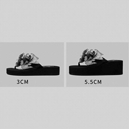 E Pantofole Spiaggia uk7 Xy Antiscivolo Moda Ciabatte colore 3cm Dimensioni 3cm cn41 Con Fondo Infradito Femminile Eu40 Da Estate Pendenti Spesso Sandali Freddi SwXX5qA