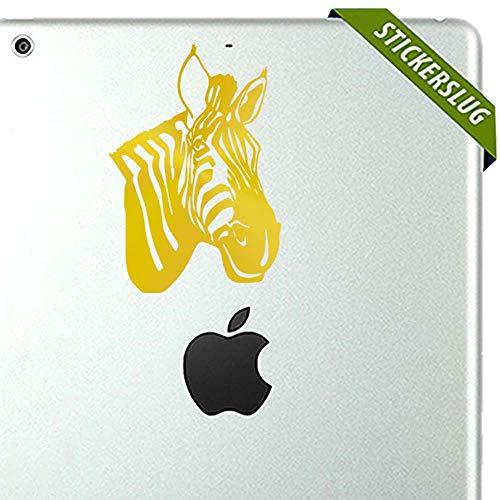 Zebra Decal Sticker (Gold, 5 inch) Removable Wall Vinyl b11980