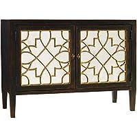 Hooker Furniture Sanctuary 2-Door Mirrored Console in Ebony