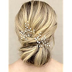 Unicra Wedding Hair Pins Hair Set Jewelry Decorative Wedding Hair Accessories for Brides and Bridesmaids Pack of 2 Silver
