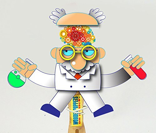 Halloween wooden hand puppet - Crazy scientist]()