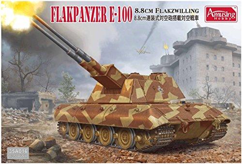 (Amusing hobby 1/35 Germany army e-100 anti-aircraft tank 8.8 cm twin vs AA guns with plastic AMH35A016)