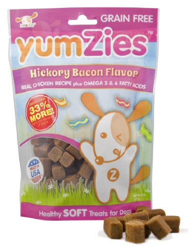 Nootie Yumzies Grain Free Hickory Bacon Flavor Natural Chicken Treats, Half Pound, My Pet Supplies
