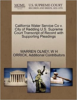 Book California Water Service Co v. City of Redding U.S. Supreme Court Transcript of Record with Supporting Pleadings