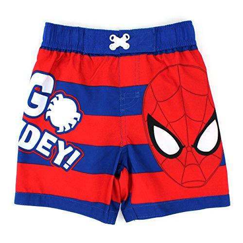 Spider-Man Boys Swim Trunks Swimwear (12M, Spidey Red)