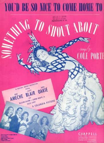 Cole Porter's You'd Be So Nice to Come Home To Vintage Sheet Music from