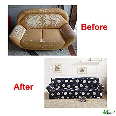 uxcell Stretch Sofa Slipcover Sofa Covers Chair Covers 1/2/3 Seater Protectors Couch Covers Featuring Soft Form Fit Slip Resistant