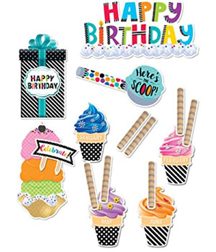 Creative Teaching Press Mini Bulletin Board Bold & Bright Happy Birthday (2178)