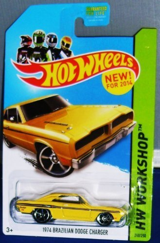 Hot Wheels 1974 Brazilian Dodge Charger Yellow 240/250 HW Workshop New for (Dodge Charger Muscle Cars)