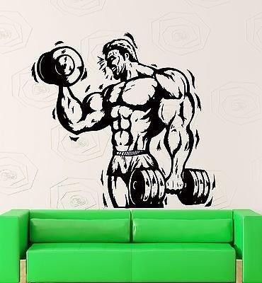 Wall Stickers Vinyl Decal Bodybuilder With Weight Bodybuilding Sport (z2184)