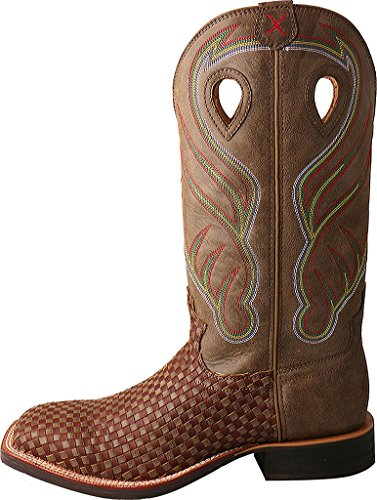 Stock M US Men's X 5 Boot Cowboy Toe Basketweave Ruff Twisted Brown Square 8 D 6pZAqIW