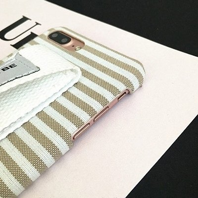MXNET IPhone 7 Plus Fall, Grid Pattern Canvas Schutzhülle mit morgen wird besser sein Red Wristband CASE FÜR IPHONE 7 PLUS ( SKU : Ip7p0348d )