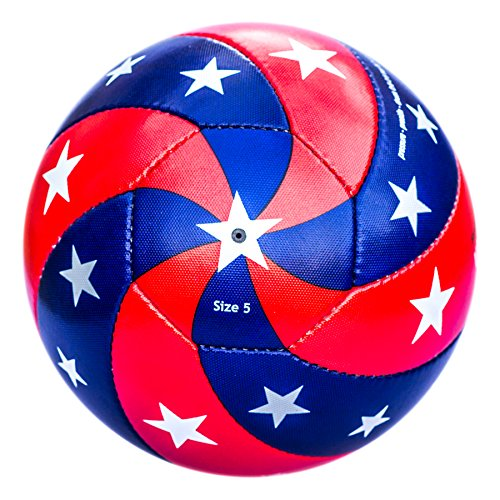 Bend-It Soccer, Reverse-Curl-It USA, Hand Sewn Soccer Ball, Size 5 (Authentic Football Jersey Sizes)