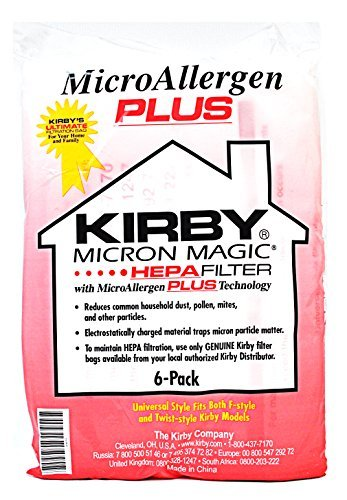 Cheapest Prices! Kirby Micron Magic Micro Allergen Plus HEPA Vacuum Filter Bags Package of 6 #204814...