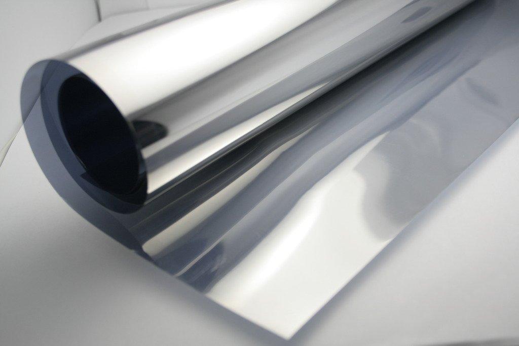 fancy-fix 銀 17.7インチ 39.4インチ (45 x 100CM) 車窓の色合い ビニル2ピース/パック B07DC9L8G2