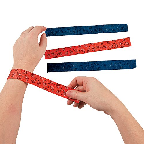 Fun Express Cowboy Western Slap Bracelets - 12 Piece Pack -