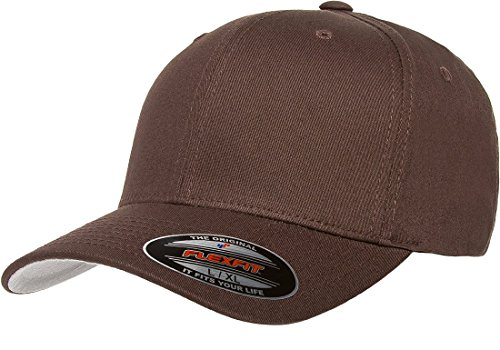 - Flexfit THP Premium Cotton Twill Hat, Brown, Small