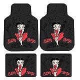 4PC Front & Rear Rubber Floor Mats Set - Betty Boop - NY New York City Sky Line