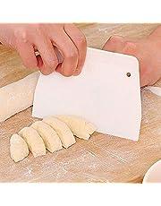 مينستياي 1 قطعة منحوتة عجينة مكشطة بلاستيكية مكشطة الكعك كريم ملعقة المعجنات اصنعها بنفسك قاطع الخبز مكشطة مع ثقب صغير أدوات خبز المعجنات اكسسوارات المطبخ