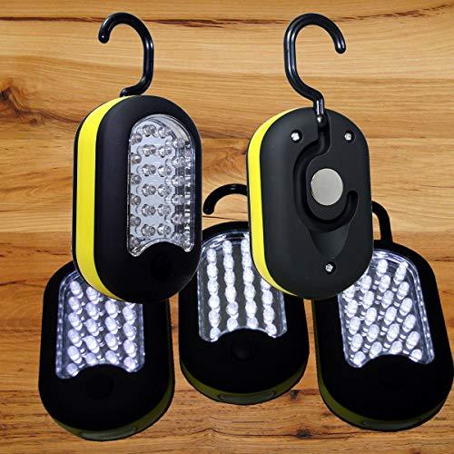 Blu Hanging (3 Qty- Emergency 27 LED Work Light Hook Flashlight w/Magnet & 2 Light Modes)
