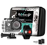 Review XP C200 Action Camera 4K 16MP Sports Waterproof Ultra HD Camera WiFi 170° Wide Angle Lens DV Digital Camcorder Remote Control 2 Batteries 1050mAh, 20 Mounting Kits Free Carrying Case