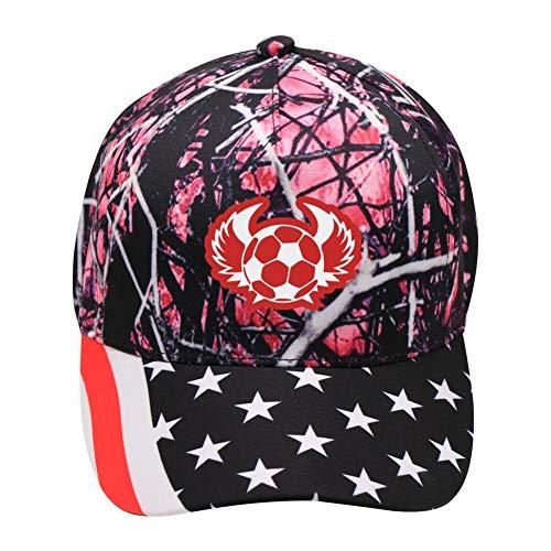 TVFUKP Unisex Soccer Cool Hip Hop Baseball Cap Adjustable Cowboy Hat Pink