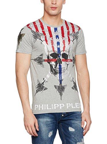 Philipp Plein Starlight HM340700 1046 Maglietta Grey Melange 1046 Uomo