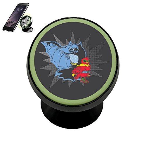 Zihoco Fashion Bat And Robin Noctilucent Magnetic Phone Car Mount Holder