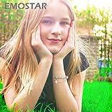 EMOSTAR Letter L Charms Initial A-Z Alphabet Beads, Rose Gold 925 Sterling Silver Dangle CZ Birthstone fits Pandora Charm Bracelet, for Mom Birthday